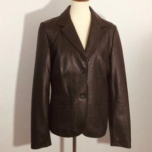 Liz Claiborne Soft Lambskin Leather Jacket Sz LT